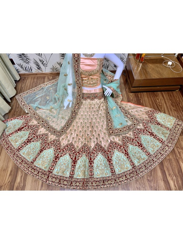 Pure Satin Silk Party Wear Lehenga  In Pink With Stone Work