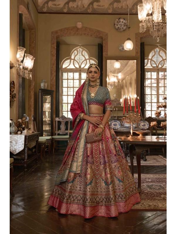 Cotton Chanderi Casual Wear Suit In Peach Color