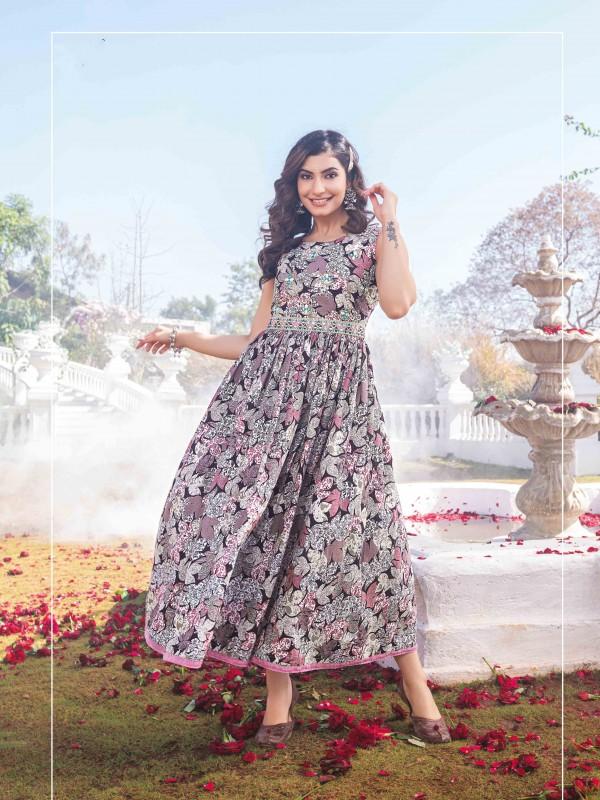 Pure Heritage Silk Party Wear Kids Lehenga In Pink WIth Digital Print Work & Stone Work