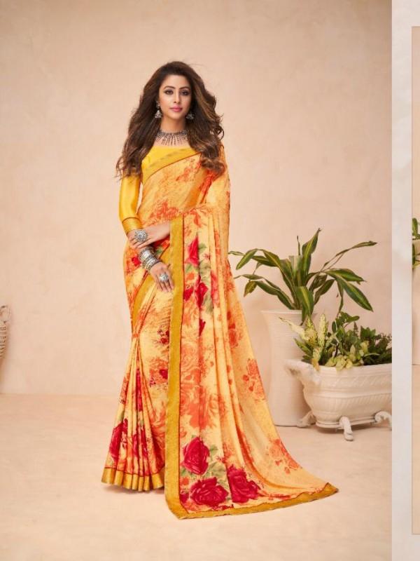 Peach Color in Crepe Silk Casual Wear Saree