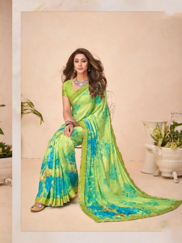 Green Color in Crepe Silk Casual Wear Saree