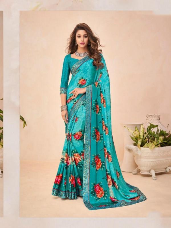 Blue Color in Crepe Silk Casual Wear Saree