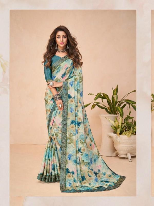 Multi Color in Crepe Silk Casual Wear Saree