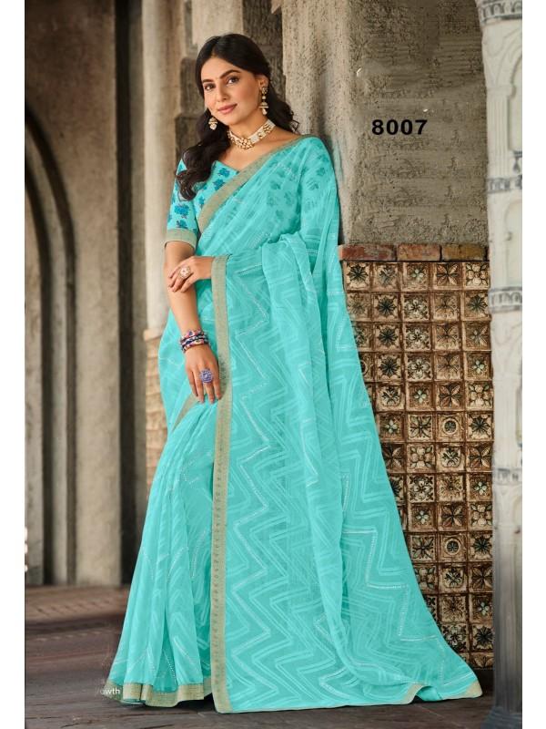Silk Traditional Wear Lehenga In White & Black Color