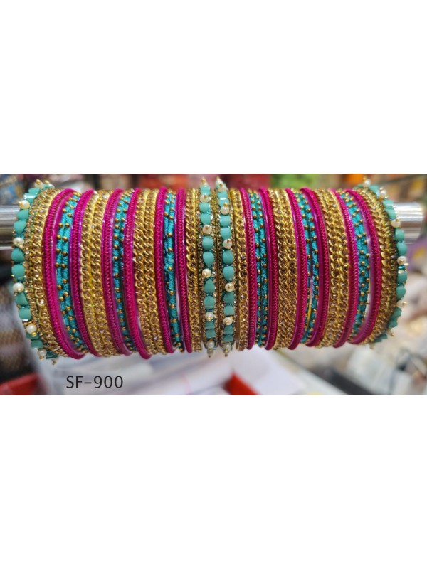 Golden  Color  Bangles With White Diamond