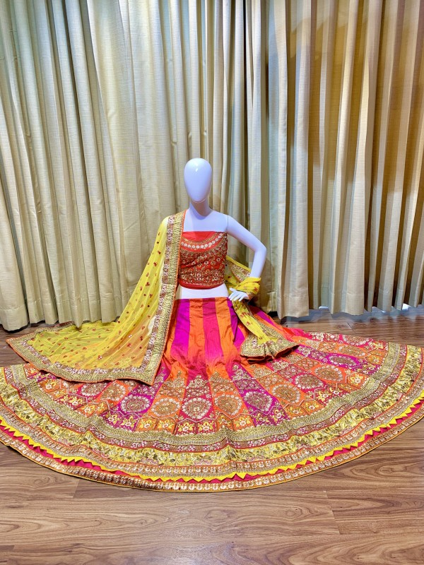 Cambridge Silk Party Wear Lehenga In Pink Color With Embroidery  Work